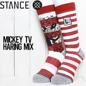 【送料無料】 STANCE スタンス MICKEY TV HARING MIX SOCKS ソックス 靴下 A545D20MIC