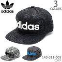 アディダス/adidas143-311-005 ベースボールキャップ レディース ストリート 帽子 レオパード 総柄 ロゴ ブラック グ…