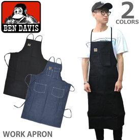 ベンデイビス/BEN DAVIS/WORK APRON ワークエプロン DENIM MACHINIST BLACK PRINTERS DENIM BLACK