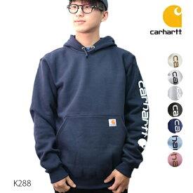 カーハート/carhartt K288 メンズ トップス パーカー スウェット Midweight Hooded Logo Sweatshirt ヘザーグレー ブラック【あす楽】