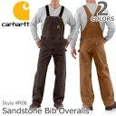 カーハート/carhartt R06 SANDSTONE BIB OVERALL ブラウン/ダークブラウン オーバーオール サロペット ユニフォーム…