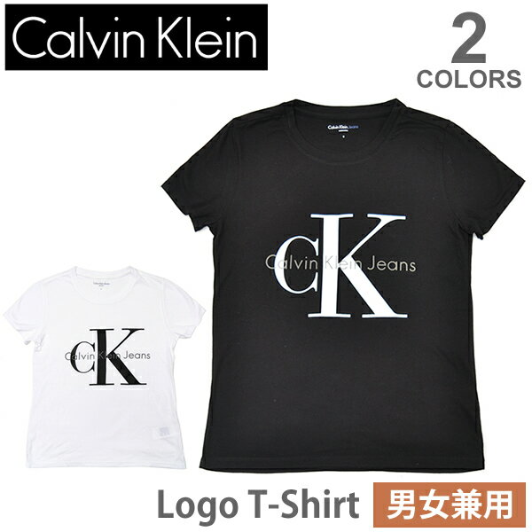 カルバン・クライン ジーンズ/Calvin klein Jeans レディース メンズ ロゴ Tシャツ 半袖 42MK976 トップス 人気 Logo T 定番 WHITE BLACK【あす楽】