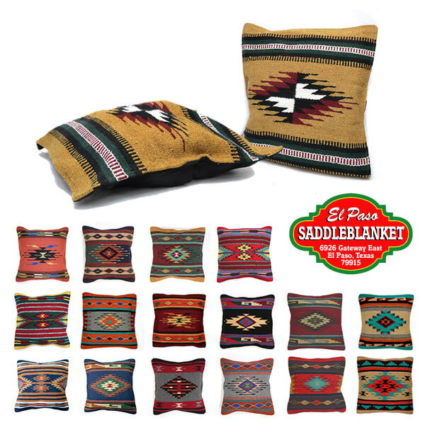 エルパソサドルブランケット/el paso saddleblanket Azteca Accent Pillows Coversクッションカバー ピロー 枕 17Color ネイティブ柄 アジアン雑貨 ネイティブ柄