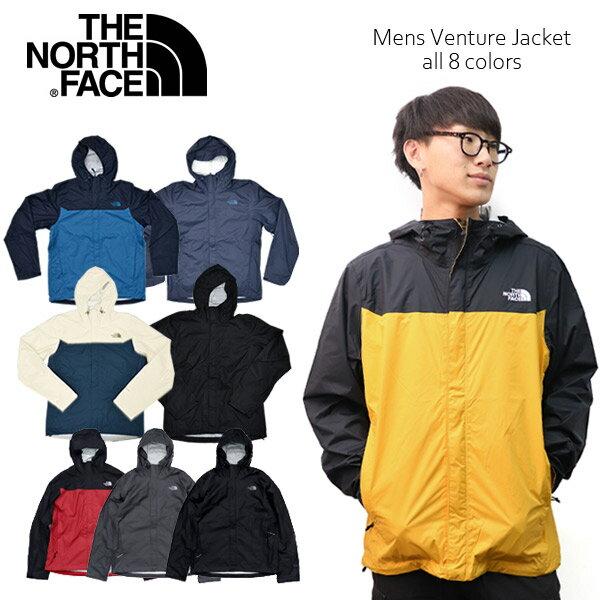 ザ・ノース・フェイス/THE NORTH FACE Mens Venture Jacket NF03JPM ブルゾン ベンチャージャケット ナイロンジャケット JACKET アウター メンズ 人気 長袖 フード アウトドア 3Color US規格【あす楽】【送料無料】