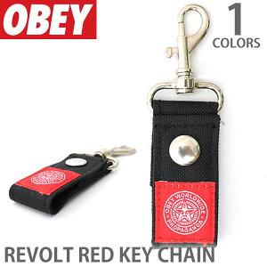 オベイ/OBEY REVOLT RED KEY CHAIN キーチェーン キーホルダー キー 鍵 アクセサリー 100160014 メンズ レディース ブラック【あす楽】【メール便可】