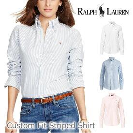 ポロ ラルフローレン/POLO RALPH LAUREN Custom Fit Striped Shirt 211571020 コットン シャツ レディース ポニー ロゴ 女性 トップス シンプル 長袖 /あす楽