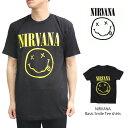 ニルヴァーナ/NIRVANA BASIC スマイル Tシャツ ロックT バンドT ヒップホップ ロゴT 正規品 本物【あす楽】メール便可