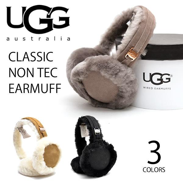 UGG/アグ 正規品 CLASSIC NON TECH EARMUFF(17398)/クラシックノンテックイヤマフ もこもこ 耳あて イヤマフ/レディース/ シープスキン プレゼント ギフト/あす楽