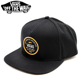 バンズ/VANS/CAP VN0A3I1A SVD ORIGINAL SNAPBACK CAP キャップ 帽子 ロゴ メンズ レディース ユニセックス スナップバック サイズ調整可能 フリーサイズ ブラック /あす楽/送料無料