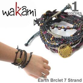 wakami/ワカミ WA0389-20 Earth Brclet 7 Strand NIGHT ユニセックス 小物 メンズ レディース ユニセックス アクセサリー Bracelet【ネコポス発送のみ送料無料】