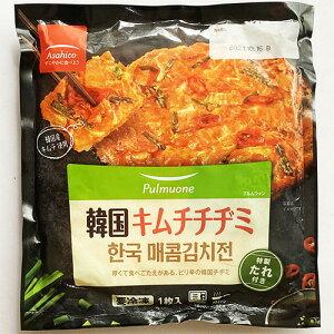 【冷凍便】pulmuone 韓国 辛口 キムチ チヂミ 特製 たれ付き 1枚入 217g asahico 韓国 料理 食品 食材 冷凍食品 お菓子 スナック おやつ
