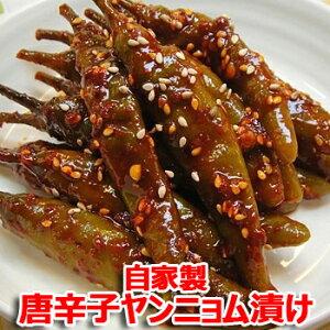 【冷蔵便】自家製 唐辛子 ヤンニョム漬け 500g キムチ 本場の味 韓国 食品 食材 料理 おかず おつまみ