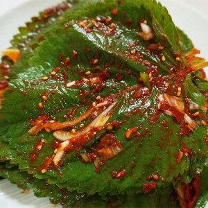 【冷蔵便】自家製 生 ごまの葉 キムチ 200g キムチ 本場の味 韓国 食品 食材 料理 おかず おつまみ