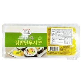 【冷蔵便】簡単 韓国 のり巻き 宗家のり巻き用たくあん 400g 韓国 食品 食材 料理 のりまき 海苔まき