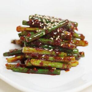 【冷蔵便】自家製 辛味 噌にんにくの芽 500g キムチ 本場の味 韓国 食品 食材 料理 おかず おつまみ