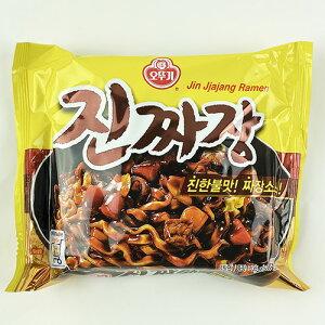 オットギ 眞(ジン)ジャジャン 135g x 4袋 韓国 食品 食材 料理 ジャージャーン インスタント ラーメン 乾麺 らーめん