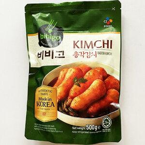 韓国 ビビゴ チョンガクキムチ 500g キムチ 韓国 食品 食材 料理 おかず おつまみ bibigo