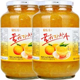 【送料無料】 ダムト ゆず茶 1kgx2 韓国食品 韓国食材 韓国食品 蜂蜜入お茶 柚子茶 お土産 お中元 果実入お茶 飲物