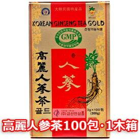 GIFT用 木箱 高麗人参茶100包*1箱 韓国特産品 健康食品 韓国茶 お中元 ギフト お祝い 伝統茶 健康茶