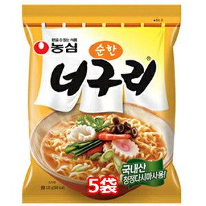 農心 ノグリラーメン 甘口 5個 韓国料理 韓国土産 インスタントラーメン ノグリうどん 韓国 ラーメン