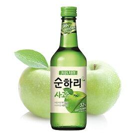 【送料無料】スンハリ チョウムチョロム りんご 360ml 5本 焼酎 スナリ 果物 カクテル 韓国 食品 食材 お酒 リンゴ