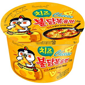 チーズブルダック炒めカップ麺 1個 韓国 食品 食材 激辛 インスタント ラーメン 乾麺 三養 サンヤン 防災グッズ 防災用 非常食