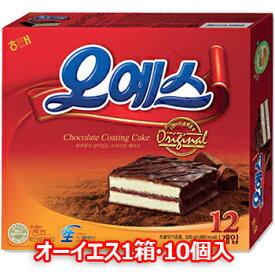 オーイエス 10個入 OHYES ohyes 韓国 食品 お菓子 菓子 スナック チョコ ケーキ ヘテ