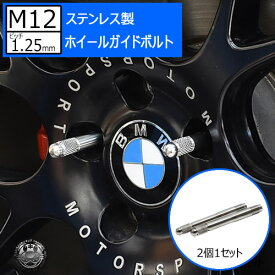 ステンレス製 ホイールガイドボルト M12×1.25mm 2個1セット アルファロメオ シトロエン フィアット プジョー 等 のホイール交換時の必需品 M12 1.25mm ホイール セッティング ボルト ガイド ツール ガイドバー 取り付け用 ハンガーボルト 輸入車 エムトラ
