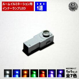 【保証付】LED 特殊形状 純正交換用 レクサス HS250h ※ANF10 グローブボックス照明 イルミネーション 高輝度 SMD 1連 1個価格 全7色から選択可【自動車用】【エムトラ】