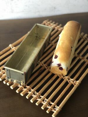 シリコン加工黄金ハーフスリム食パン型フタ付きスリム250x58x高40mm|空焼き不要松永製作所