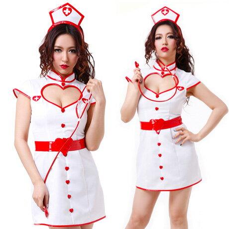 【即納】ナース服 ナース 黒 コスプレ 看護婦 コスチューム コスプレ衣装 ハロウィン 衣装 白衣 コスプレ ナース服 セクシー cos コス なーす ハート 041 【あす楽対応】