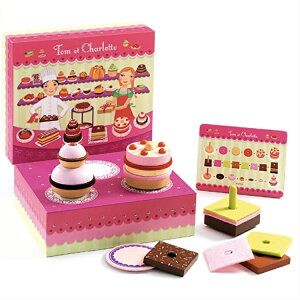 DJECO ジェコ シャルロット&トム ケーキショップ 子供 キッズ おもちゃ 女の子 パティシエ ケーキ屋さん お店 お店屋さん ごっこ ごっこ遊び おままごと ギフト プレゼント 誕生日 クリスマス
