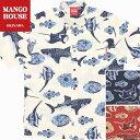 かりゆしウェア 沖縄アロハ アロハシャツ MANGO HOUSE マンゴハウス 国産 リゾート 結婚式 お揃い ペア メンズ 202040…