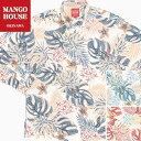 かりゆしウェア 沖縄アロハ アロハシャツ MANGO HOUSE マンゴハウス 国産 リゾート 結婚式 長袖シャツ ヤンバルクイナ…