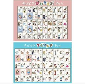 お風呂学習ポスター ひらがな・カタカナ・ABC (☆2枚セット¥200割引 (ひらがな・カタカナ)