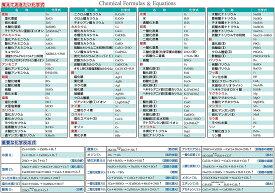 お風呂学習ポスター 受験教材 (化学式一覧表)
