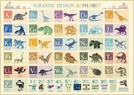 お風呂学習ポスター ひらがな・カタカナ・ABC (恐竜ABC・アルファベット(大 60×42cm))