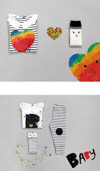キッズ靴下配色ハイソックス(2colors)韓国子供服