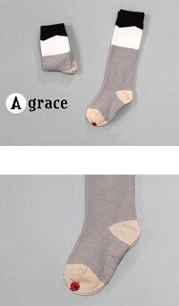 韓国子供服キッズ靴下秋配色ハイソックス子供靴下フォーマル男の子女の子13cm15cm17cm19cm韓国子供服のマリンキャッスル