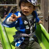 Orikaesu children's happ set red for 4 to 6 year old cuffs and cute mameshibori!