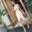 ドレス キャバ ナイトドレス 夏ドレス 韓国ドレス セクシードレス シンプル セットアップ ツーピース ワンピース 無地 ベアトップ ビスチェ 夏 袖なし ロング丈 二次会 ゲスト お呼ばれ アシンメ