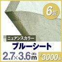 ブルーシート2.7m×3.6m 3000番 ダークブラウン/グレーベージュ ハトメ付(90cmピッチ)ブルーシート/レジャーシート