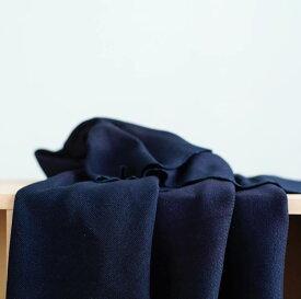 やや厚手のコットン 20/1 スパンテレコ 1.5mm 148cm幅 50cm単位 広幅 訳あり藍染