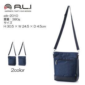 A.L.I アジアラゲージ atk-2010 W30.5xH24.5xD4.5cm 重量:380g 多機能ショルダーバッグ ナイロンコーデュラ 耐久・はっ水素材使用 タブレットPC対応