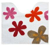 トイレマット大胆な花のモチーフが気分も華やぐ空間に!