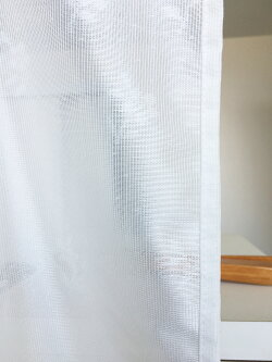 カフェカーテン花柄防炎45cm丈出窓小窓目隠し短いスカラップ『デイジー』【コンビニ受取対応商品】【ネコポス(メール便)対応可】