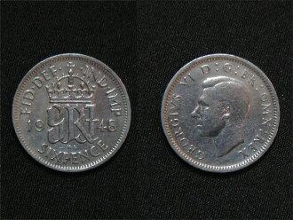 영국에서 출발 하는 행복의 6 펜스 동전 1948 년 조지 6 세