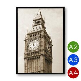 A2/A3/A4ポスター ビッグベン 時計台 ロンドン インテリア 景色 風景 写真 アートポスター おしゃれ 北欧 ポイント消化 送料無料
