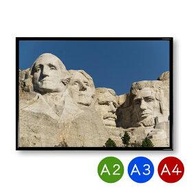 A2/A3/A4ポスター マウントラシュモア国立モニュメント 大統領 インテリア 景色 風景 写真 アートポスター おしゃれ 北欧 ポイント消化 送料無料