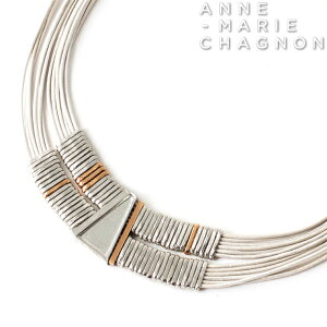 2021new アンマリーシャニョン デザイン チョーカー タイプ ネックレス 金属アレルギーを起こしにくい素材でお肌にやさしい ブランド レディース アクセサリー シルバー メタリック ホワイト
